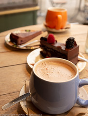 Can't have too much chocolate - same table different day (Pexpix) Tags: drink chocolatecheesecake hotchocolate edinburgh mug table chocolategateau spoon cup saucer scotland unitedkingdom gb