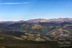 August 31, 2018 - Signs of fall from Mount Evans. (Tony's Takes)