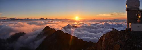 Pic du midi - coucher de soleil