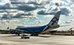 Flight to Crimea. 747-400 Cargo. A wonder to my eyes =) (VANO CHAVCHAVADZE) Tags: russia crimea flight