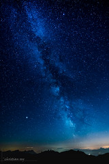 Milky way on the swiss Alps (christian.rey) Tags: voielacté milkyway moléon alpes alps swiss fribourg gruyère ciel sky nuit nigth sony a7r2 a7rii 1635 imagesforthelittleprince