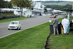 A Marshall looks on (gooey_lewy) Tags: goodwood revival 2018 marshall straight circuit ford lotus cortina car racing classic touring motor