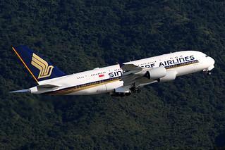 9V-SKY, A380, Singapore Airlines, Hong Kong