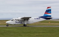 G-SBUS Isles of Scilly Skybus Britten Norman Islander BN2 @ Lands End Airfield, St Just, Cornwall. (PS Photogaraphy) Tags: gsbus isles scilly skybus britten norman islander bn2 lands end airfield st just cornwall gbubn helicopter airport air airplane avgeek aircraft airlines flying flight july avgeeks