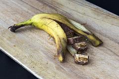 Bizarre Chocolate (syf22) Tags: bizarre fruit weird wayout peculiar ridiculous unusal queer offbeat oddball grody kooky grotesque odd freakish farout extraordinary comical eccentric banana chocolate topic food snack