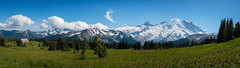 Mount Rainier Pano (Mike Ver Sprill - Milky Way Mike) Tags: mount rainier panorama washington state landscape nature beautiful mike ver sprill travel photography