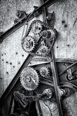 Broken (D E Pabst Photography) Tags: fineart neglected rusted abandoned blackandwhite monochrome machinery abstract farm agriculture