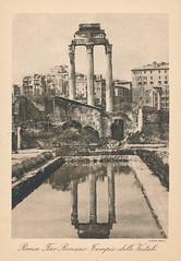 1944/1945 Rome Postcard (Stabbur's Master) Tags: postcard 1940s 1940sromepostcard 1940spostcard rome romanruins italy romanforum fororomano templeofvesta tempiodellevestali