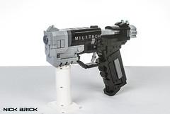 Militech 9mm Pistol - Cyberpunk 2077 (Nick Brick) Tags: lego cyberpunk 2077 cyberpunk2077 pistol gun handgun sidearm militech cdprojektred cyberpunk2020 nickbrick