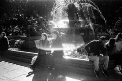 Hyde Park, Sydney, winter 2018  #435 (lynnb's snaps) Tags: 35mm cv21mmf4ltm ilfordfp4 leicaiiic sydney xtol bw blackandwhite city contrejour film fp4 street 2018 leicafilmphotography australia archibaldfountain lensflare bianconegro blackwhite bianconero biancoenero blancoynegro noiretblanc schwarzweis monochrome ishootfilm kodakxtoldeveloper barnack rangefinderphotography ©copyrightlynnburdekinallrightsreserved