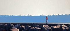 Last Stroll of Summer (coollessons2004) Tags: breakwater greatlake lakemichigan girl stroll summer