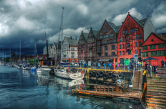 Bergen in the rain Rev 2.0 (Fr@nk ) Tags: bergen norway recent ddtag5 rec0309 europe frnk mrtungsten62 classicchrome rain clouds colors norge europ12