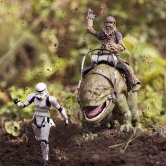 Chewie Dewback Joyride (Jezbags) Tags: chewie dewback joyride starwars stormtrooper trooper chase run dirt mud canon canon80d 80d 100mm closeup upclose macro macrophotography macrodreams practical effects