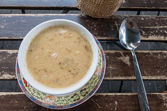 Ginger coconut soup (marcoverch) Tags: köln nordrheinwestfalen deutschland de ginger coconut soup noperson keineperson food lebensmittel hot heis coffee kaffee spoon löffel drink getränk wood holz cup tasse rustic rustikal table tabelle traditional traditionell bowl schüssel wooden hölzern stilllife stillleben breakfast frühstück closeup nahansicht cooking kochen warmly herzlich glass fujifilm zoo classic happy airplane tamron hiking eos kids
