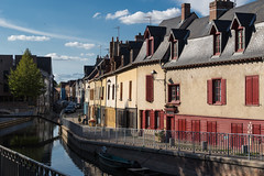 Amiens, France (Adrià Páez) Tags: hautsdefrance amiens france picardy europe city street houses windows roofs canal water bridge stairs sky clouds canon eos 7d mark ii somme