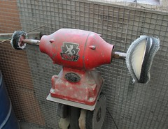 Wolf grinder/polisher (K Garrett) Tags: wolf power tools madeinengland sapphire electric polisher grinder 8 vintage drill polishing mop polish workshop