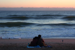 TOGETHER AT  SUNRISE (R. D. SMITH) Tags: people couple ocean water dawn beach sand morning canoneos7d florida