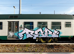 TSB (StrangeSpotter) Tags: graffiti graffitiart train traingraffiti streetart street italy art painted paintedtrains graffititrain graff