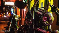 Bike Closeup (alexabero) Tags: bikes motorcycle biker lights light street photograph photography motorbike harleydavidson city hawaii