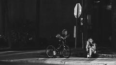 Not Listening (3rd-Rate Photography) Tags: people street man woman blackandwhite bw daytona florida 3rdratephotography earlware 365 canon 5dmarkiii 70200mm