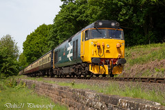 20180517-IMG_3643 (deltic21) Tags: severn valley railway svr severnvalley preserved preservation diesel power traction heritage classic transport wheel wheels motion loco locos locomotive train trains rail rails track tracks br british type class restored restoration moving railways trees outdoor outside nature bewdley kidderminster bridgenorth shropshire worcestershire midlands engine clag 50049 50 alliance defiance log hoover large logo ee english electric