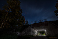 Tunnel to the past (MIKAEL82KARLSSON) Tags: grängesberg gränges night natt nattfoto nightshot nightphoto dalarna bergslagen sverige sweden flickr station tunnel longexpo sony a7ll samyang 14mm wideangel vidvinkel mikael82karlsson