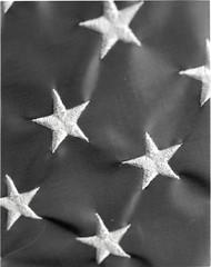 img158 (d a v e ! !!) Tags: 4x5 blackandwhite flag largeformat stars macro