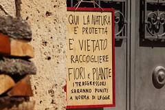 W la Natura!! (mp.ricambi) Tags: divieto cartello natura informazioni regolamento