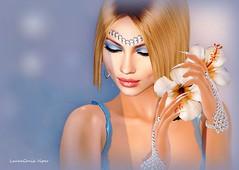 Guess What Starts Tomorrow (lauragenia.viper) Tags: amias arte bento catwa catya insol izzies lode lyrium maitreya palegirlproductions powderpack promagic rhude secondlife secondlifefashion slackgirl thetrunkshow vanityhair zibska avatar virtual girl woman female elegant beauty laurageniaviper secondlifeblogger secondlifemodel portrait closeup face nails makeup mesh gloves eyeshadow lipstick gloss closedeyes smile dimples flower jewelry earrings accessory vintage