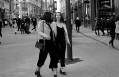 Life is good (Gabo Barreto) Tags: leeds briggate streetphotography friends walking woman 35mm 135 ilford hp5 analoguephotography film ishootfilm filmisnotdead canona1 canonfd selfdeveloped scannedfromfilm epsonv500 xtol
