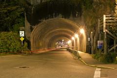 Ketchikan Tunnel (Curtis Gregory Perry) Tags: ketchikan alaska tunnel night long exposure car traffic front street nikon d810