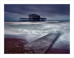 Untitled (Nigel Morton) Tags: brighton sussex pier beach coast long exposure littlestopper drama landscape england simple nigelmorton