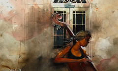 upright player troycrisswell (troycrisswell) Tags: art watercolor painting girl figure g