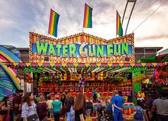 CNE 2018 V (Jack Landau) Tags: canadian national exhibition toronto fair carnival rides midway cne ex ontario canada city urban skyline sunset pink sky jack landau canon 5d people sign