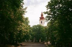 (szmenazsófi) Tags: smenasymbol lomo smena analog analogue film 35mm hungary sümeg outdoor town hike hiking trees church spire magyarország