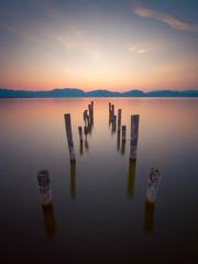 Lago di Massaciuccoli (Timothy Gilbert) Tags: longexposure 10stop microfournerds tuscany wideangle pier lagodimassaciuccoli m43 ultrawide lumix laowacompactdreamer75mmf20 sunrise italy gx8 microfourthirds panasonic