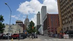 Tulsa (2) (pensivelaw1) Tags: tulsa oklahoma skyscrapers fountains statues mosaic arkansasriver