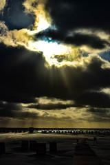 DSC_0489 (stacheltierchen) Tags: amrum beach sunset sunlight sparkels sonnenstrahlen sonnenuntergang germany nordsee nordfriesland northsea insel abends evening strand empty storm clouds wolken sky himmel strandkorb europe travel vacation night nikon d3300 explore light fantastic flickr