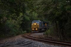 Dusk on the OJG (travisnewman100) Tags: csx cartersville subdivision atlanta division train railroad rr freight unit grain c409w yn3b ge locomotive georgia ojg 190 milepost g216 dusk