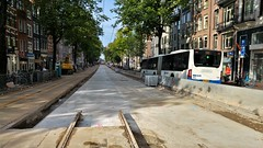 Schoon bedje (Peter ( phonepics only) Eijkman) Tags: amsterdam city gvb roadworks wegwerkzaamheden detour omleiding tram transport trams tramtracks trolley rails rail strassenbahn streetcars nederland netherlands nederlandse noordholland holland