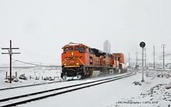 ACE in the Snow (GRNDMND) Tags: trains railroads bnsf locomotive emd sd70ace tehachapipass monolith eric california