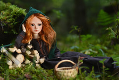 Little Green Riding Hood (hoe-nir) Tags: souldoll lev soulkid minifee hybrid msd doll bjd forest