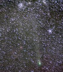 Comet 21P/Giacobini-Zinner 09Sep18 (northern_nights) Tags: comet21pgiacobinizinner comet stars m36 m38 starclusters astrometrydotnet:id=nova2781581 astrometrydotnet:status=solved