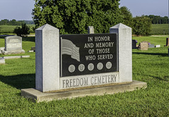 Freedom Cemetery (will139) Tags: cemeteries veterans in234 freedomcemetery wavelandindiana ruralindiana