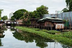 Bang Sue (D. R. Hill Photography) Tags: bangkok bangsue thailand asia southeastasia water river city urban houses homes traditional reflection nikon nikond750 d750 nikon50mmf14g nikon50mm 50mm primelens fixedfocallength