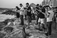 DSC_1743 (Dan_lazar) Tags: charlesclore telaviv israel beach shofar roshhashana jews sea sunset prayer bw bnw blackandwhite orthodox