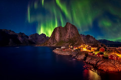 Hamnoy - Lofoten (www.Royz.nl) Tags: aurora auroraborealis ballstad hamnoy henningsvaer lofoten noorderlicht noorwegen northernlight northernlights norway norwayislands reine weather