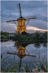 Kinderdijk at dusk (3). (Alan Burkwood) Tags: netherlands kinderdijk windmills unesco worldheritagesite