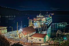 The Night Time Get Away (LOURENḉO Photography) Tags: ocean ferry orcasisland orcas island washington state transportation art color place landscape water night wadot