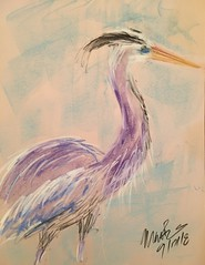 Blue Heron (Mark Bonica) Tags: drawing art fishing water bird
